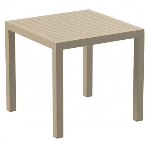 Ares Resin Outdoor Dining Table 31 inch Square Taupe ISP164-DVR