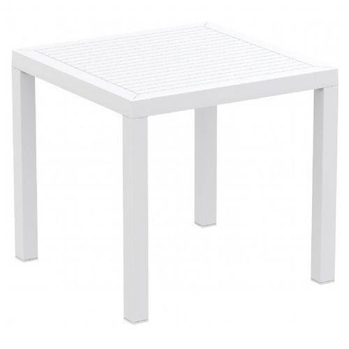 Ares Resin Outdoor Dining Table 31 inch Square White ISP164-WHI