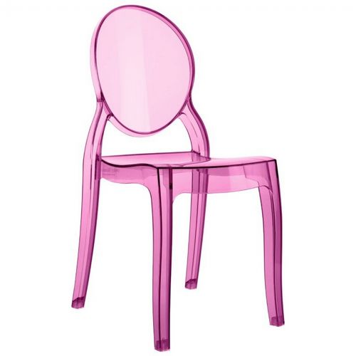 Baby Elizabeth Polycarbonate Kids Chair Transparent Pink ISP051-TPNK