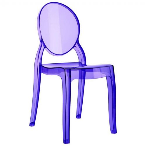 Baby Elizabeth Polycarbonate Kids Chair Transparent Violet ISP051-TVIO