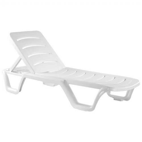 Bahama Sunlight Resin Chaise Lounge ISP077-WHI