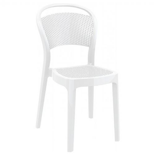 Bee Polycarbonate Dining Chair Glossy White ISP021-GWHI