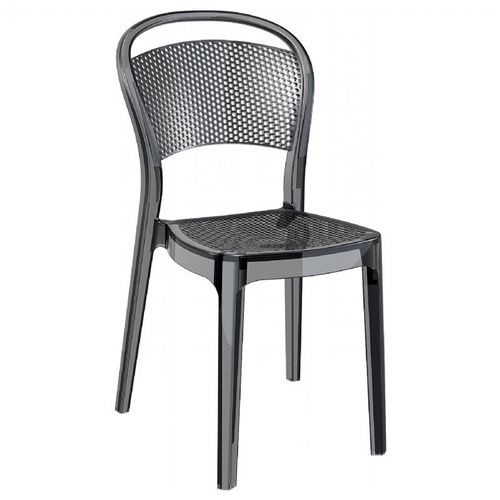Bee Polycarbonate Dining Chair Transparent Black ISP021-TBLA