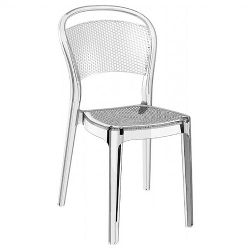 Bee Polycarbonate Dining Chair Transparent Clear ISP021-TCL