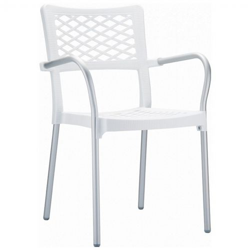 Bella Outdoor Arm Chair White ISP040-WHI