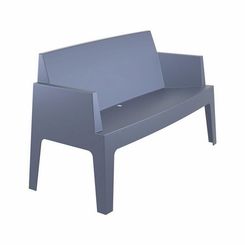 Box Outdoor Bench Sofa Dark Gray ISP063-DGR