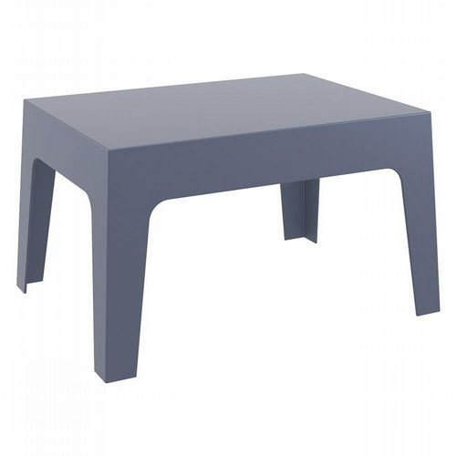 Box Resin Outdoor Coffee Table Dark Gray ISP064-DGR