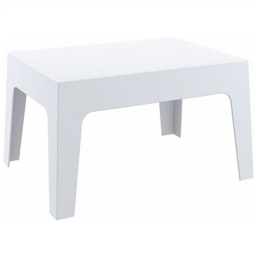Box Resin Outdoor Coffee Table White ISP064-WHI