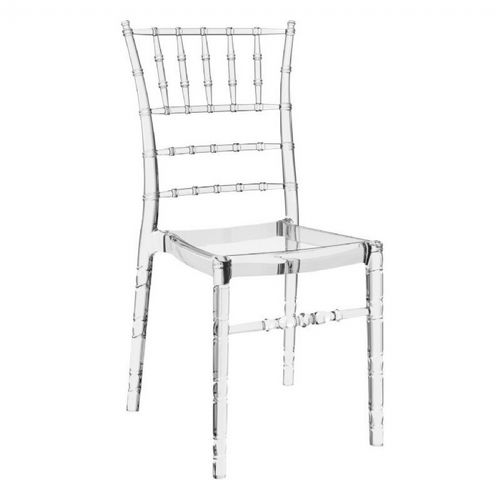 Chiavari Polycarbonate Dining Chair Transparent Clear ISP071-TCL