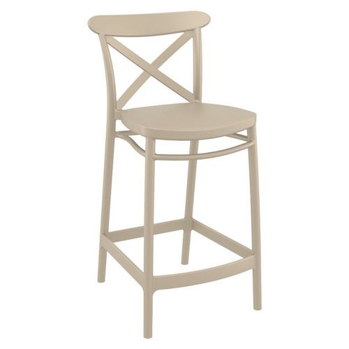 Cross Outdoor Counter Stool Taupe ISP264-DVR