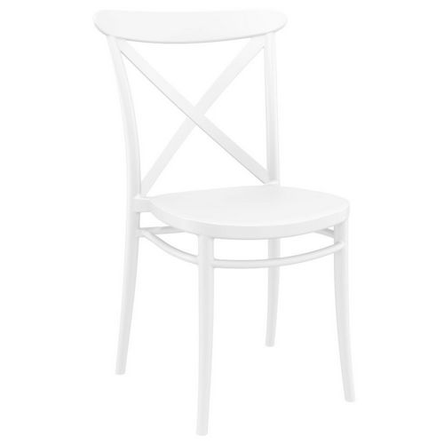Cross Resin Outdoor Chair White ISP254-WHI