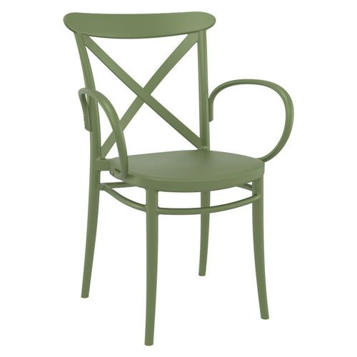 Cross XL Resin Outdoor Arm Chair Olive Green ISP256-OLG