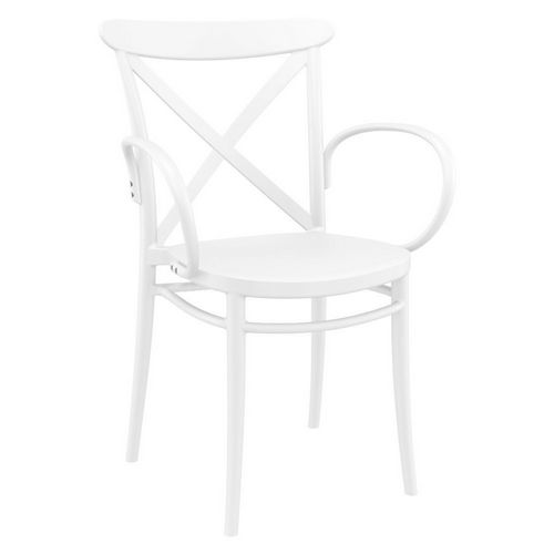 Cross XL Resin Outdoor Arm Chair White ISP256-WHI