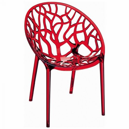 Crystal Outdoor Dining Chair Transparent Red ISP052-TRED