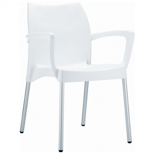 DV Dolce Resin Outdoor Armchair White ISP047-WHI
