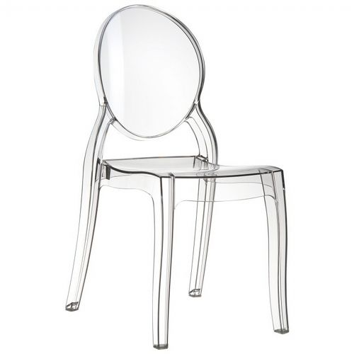 Elizabeth Clear Polycarbonate Outdoor Bistro Chair Clear ISP034-TCL