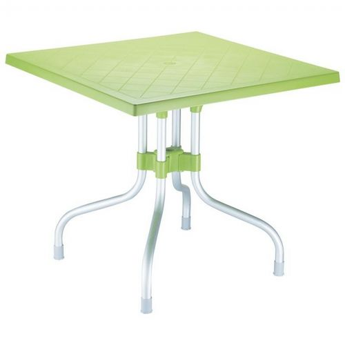 Forza Square Folding Table 31 inch - Apple Green ISP770-APP