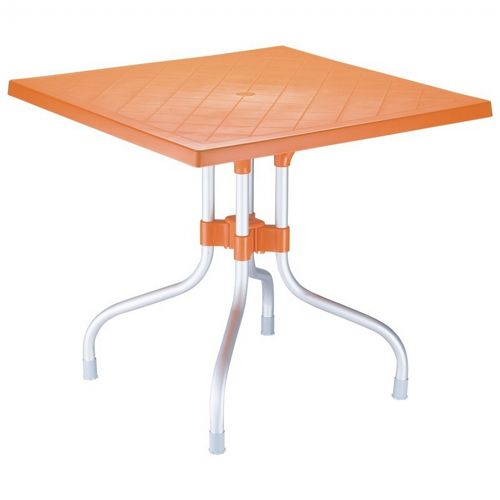 Forza Square Folding Table 31 inch - Orange ISP770-ORA