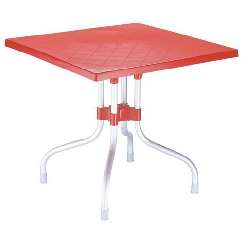 Forza Square Folding Table 31 inch - Red ISP770-RED