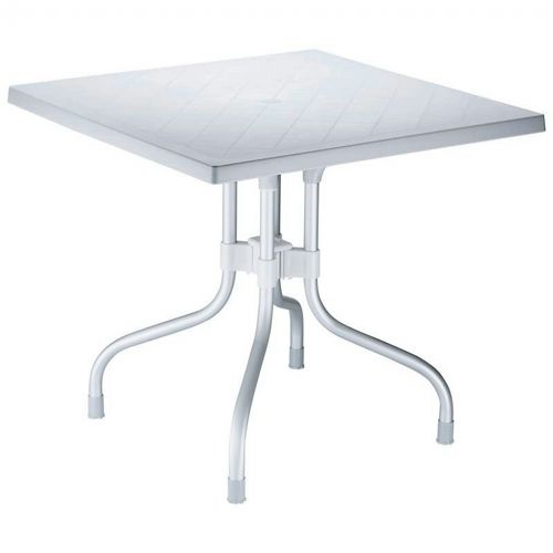 Forza Square Folding Table 31 inch - Silver Gray ISP770-SIL
