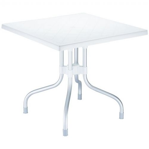 Forza Square Folding Table 31 inch - White ISP770-WHI
