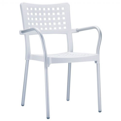 Gala Outdoor Arm Chair White ISP041-WHI