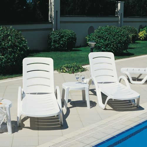 Havana Pool Chaise Furniture Set of 4 ISP078S-WHI