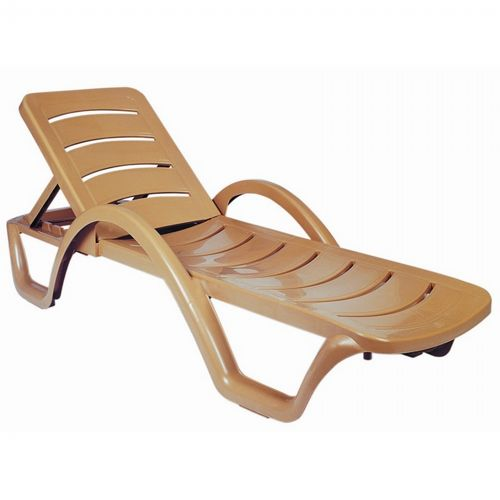 Havana Sunrise Resin Chaise Lounge Brown ISP078-TEA