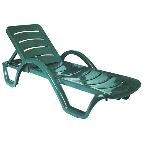 Havana Sunrise Resin Chaise Lounge Green ISP078-GRE