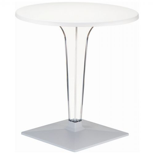 Ice Round Dining Table White Top 28 inch. ISP510-WHI