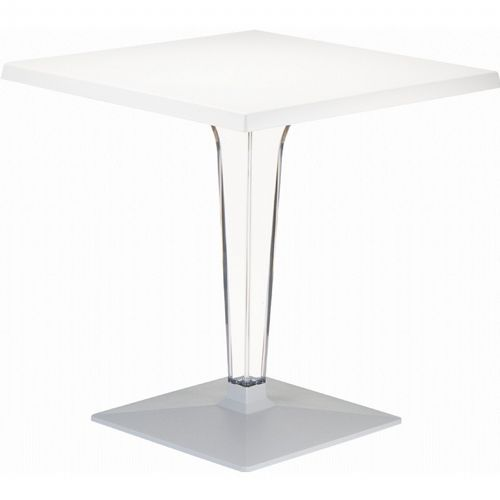 Ice Square Dining Table White Top 28 inch. ISP560-WHI