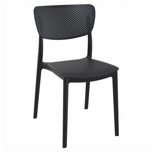 Lucy Outdoor Dining Chair Black ISP129-BLA
