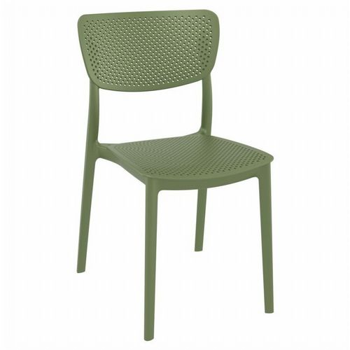 Lucy Outdoor Dining Chair Olive Green ISP129-OLG