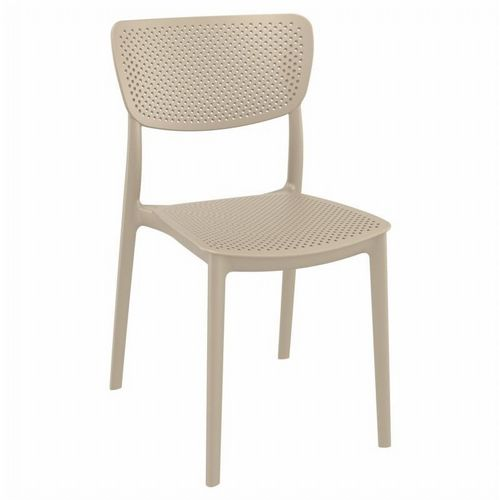 Lucy Outdoor Dining Chair Taupe ISP129-DVR