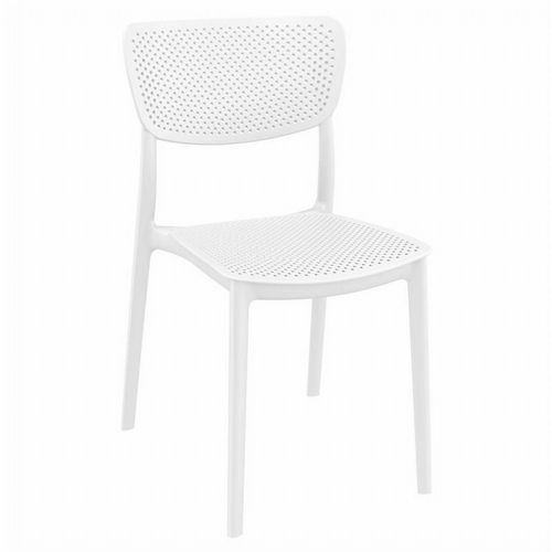 Lucy Outdoor Dining Chair White ISP129-WHI