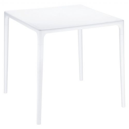 "Mango 28"" Square Outdoor Dining Table White ISP800-WHI"