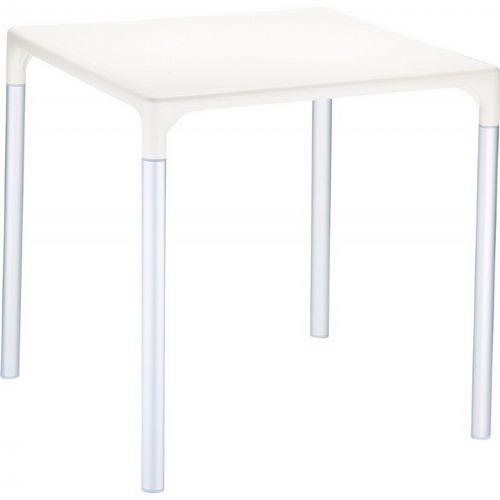"Mango Alu Square Outdoor Dining Table 28"" Beige ISP758-BEI"