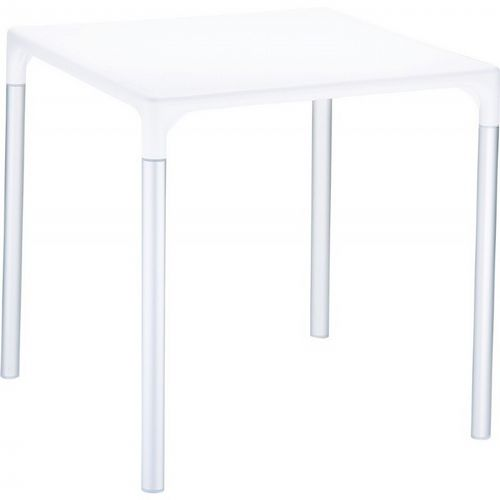 "Mango Alu Square Outdoor Dining Table 28"" White ISP758-WHI"