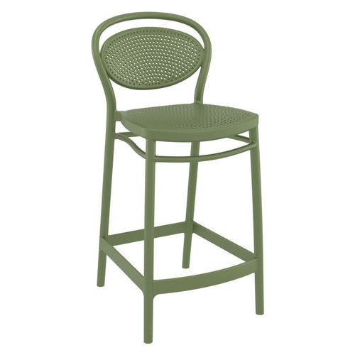 Marcel Outdoor Counter Stool Olive Green ISP268-OLG