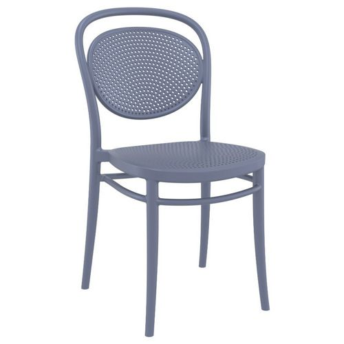 Marcel Resin Outdoor Chair Dark Gray ISP257-DGR