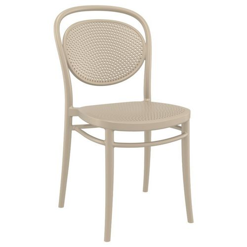 Marcel Resin Outdoor Chair Taupe ISP257-DVR