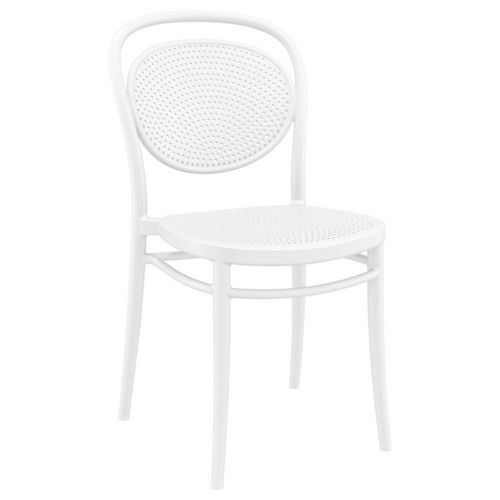 Marcel Resin Outdoor Chair White ISP257-WHI