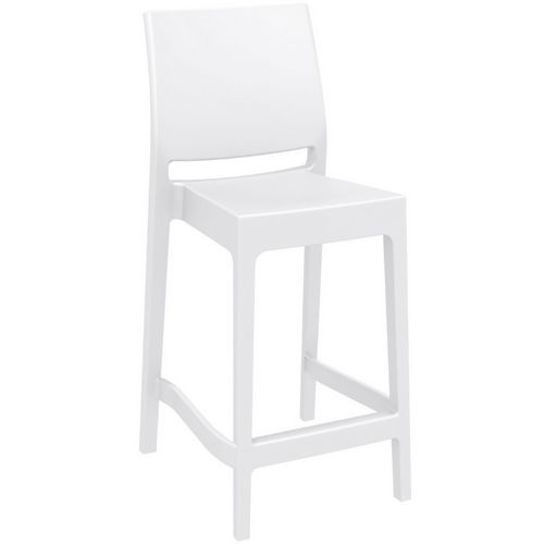 Maya Outdoor Counter Stool White ISP100-WHI