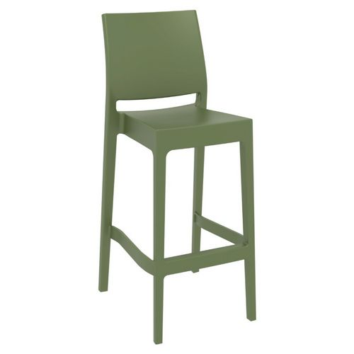 Maya Resin Bar Stool Olive Green ISP099-OLG