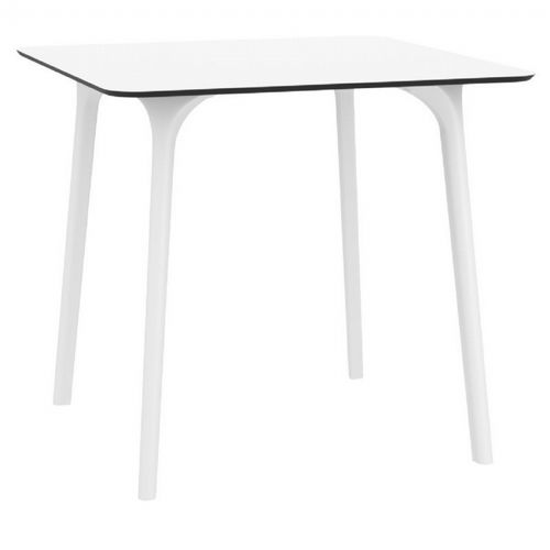 Maya Square Outdoor Dining Table 32 inch White ISP685-WHI