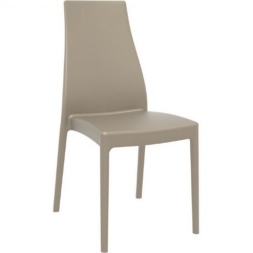 Miranda Modern High-Back Dining Chair Taupe ISP039-DVR