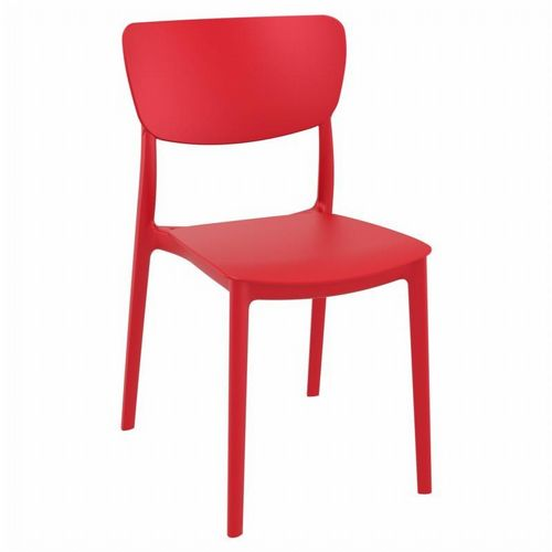 Monna Outdoor Dining Chair Red ISP127-RED