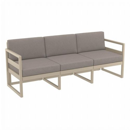 Mykonos Patio Sofa Taupe with Taupe Cushion ISP1313-DVR-CTA