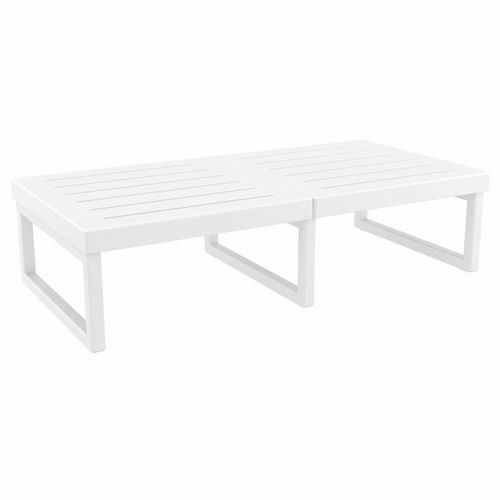 Mykonos Rectangle Outdoor Coffee Table White ISP138-WHI