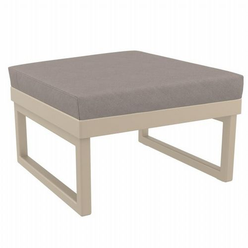 Mykonos Square Ottoman Taupe with Sunbrella Taupe Cushion ISP137F-DVR-CTA